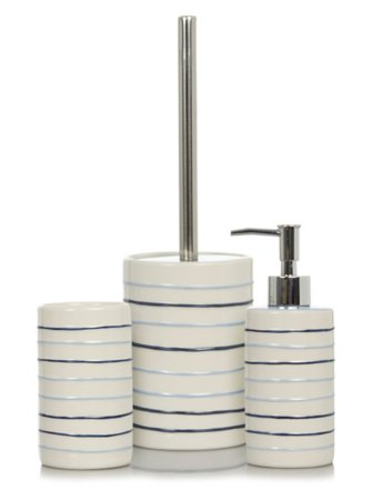 Striped Bath Accessories Range