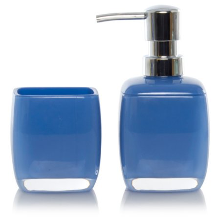 George Home Blue Acrylic Bathroom Accessories