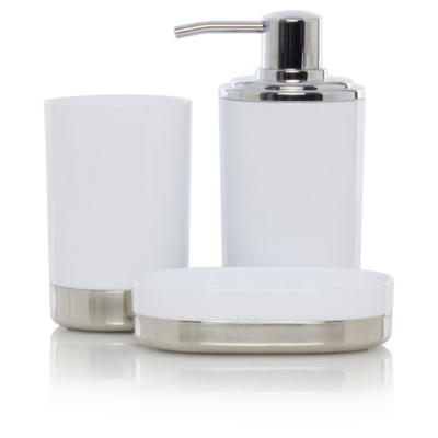 White Chrome Bath Accessories Range Bathroom Accessories