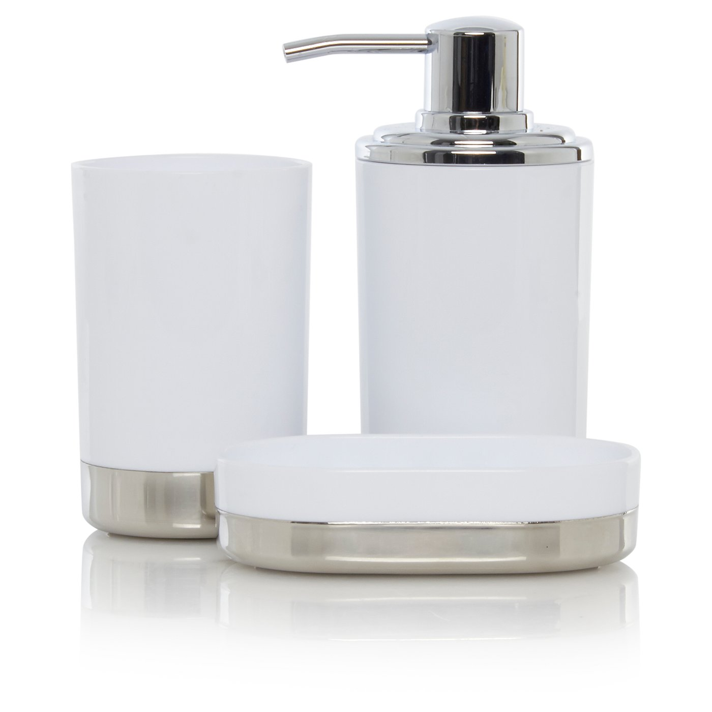 White & Chrome Bath Accessories Range | Bathroom Accessories ...