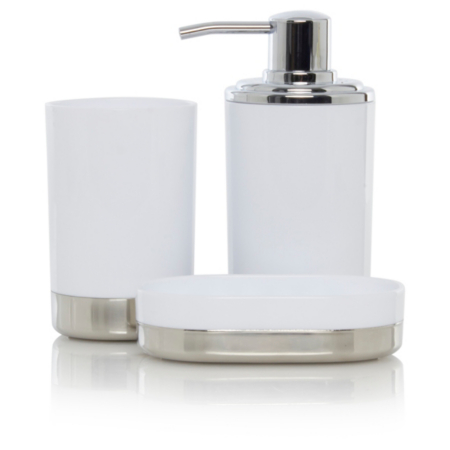 white bathroom fittings george home white amp chrome bathroom accessories bathroom 15068