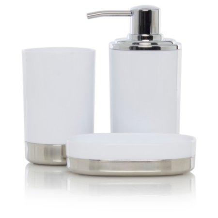 George Home White & Chrome Bath Accessories Range