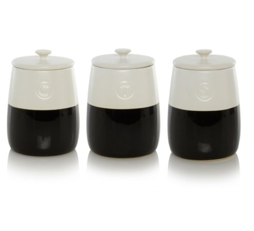 George Home Black and White Dipped Canister Range