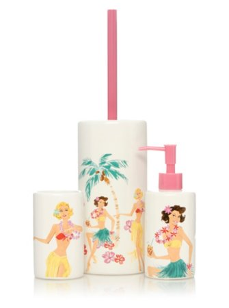 George Home Hula Girl Bathroom Accessories