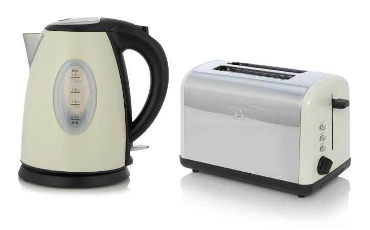 George Home Fast Boil Kettle & Toaster Range - Cream