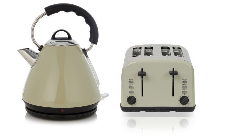 George Home Pyramid Kettle & 4 Slice Toaster  Range - Putty