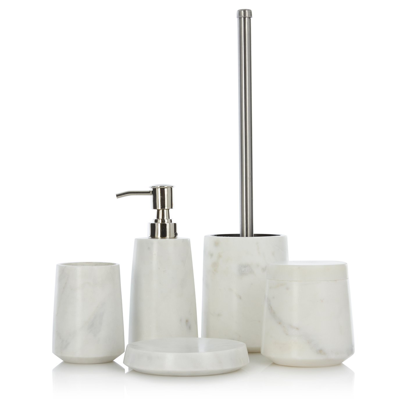 Luxury By George Home White Marble Accessories Loading Zoom