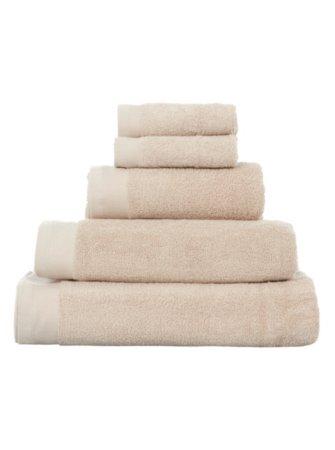100% Cotton Towel Range - Biscuit