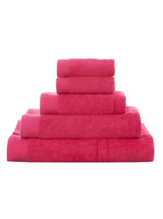100% Cotton Towel Range - Bright Pink
