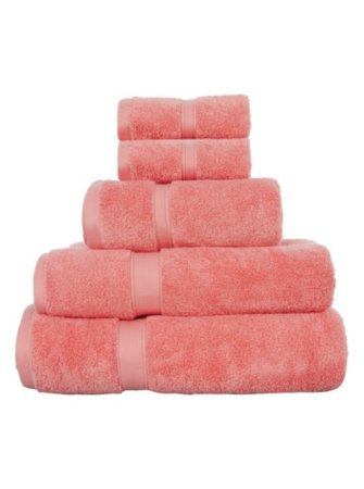 Super Soft Cotton Towel Range - Coral
