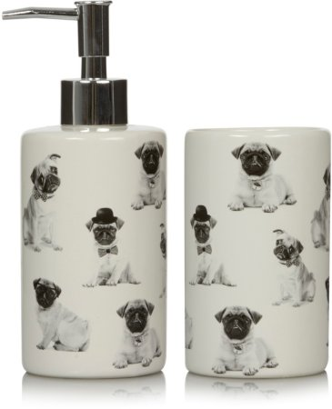 George Home Pug Bath Accessories Range