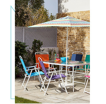 Create a spot in the sun with our range of patio sets