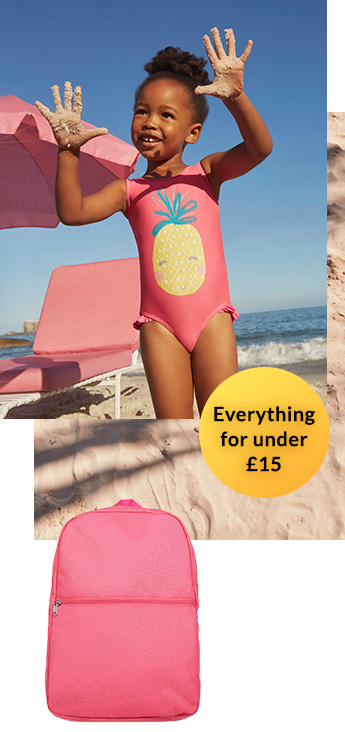 Shop our range of girls' clothing for under £15