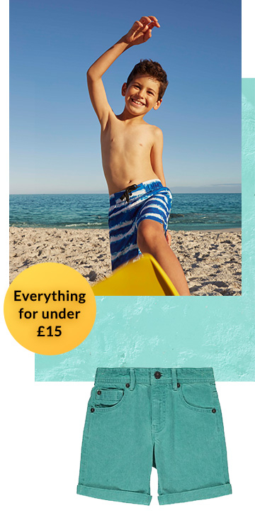 Shop our range of boys' clothing for under £15