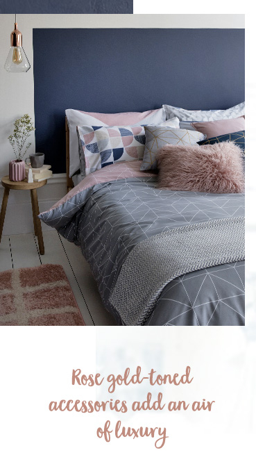 Rest and recharge with our new and snug Harmony bedding range