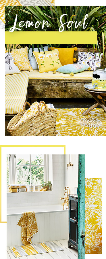 Lemon Soul uses fresh shades to create a warm, welcoming, glowing home colour scheme