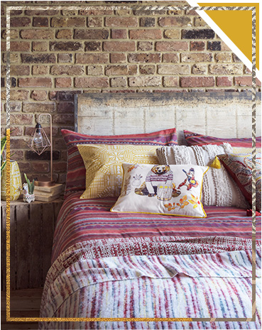 Dream of faraway places with our cosy bedding range