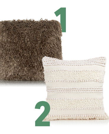 Add texture to your space with our range of cushions