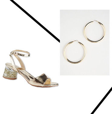 Stand out from the crowd in these elegant gold sandals
