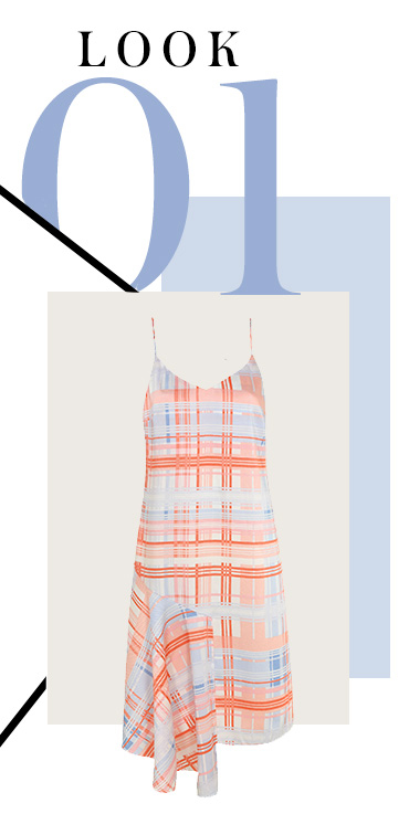 This check slip dress is a timeless design for any wardrobe