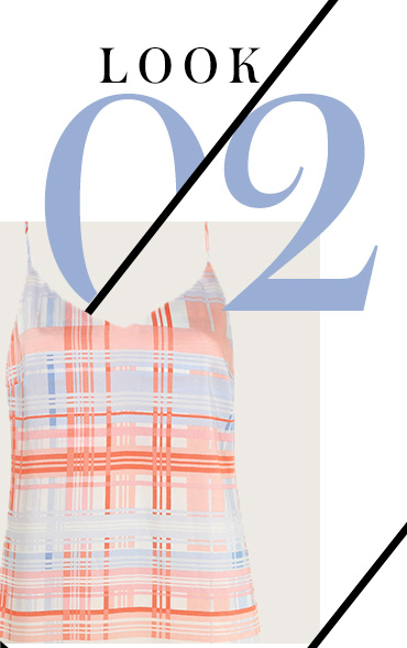 Designed with an asymmetric hem, dreamy evening looks are a pleasure in this stunning check dress