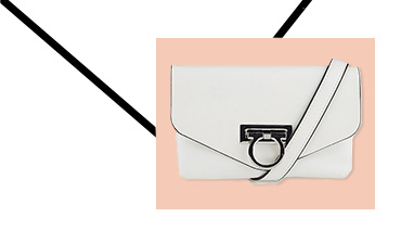 This white belt bag with silver-tone ring detail is the ultimate accessory from work to evening events
