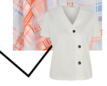 Add a sophisticated spin to your day-to-day outfit with this classic white blouse top