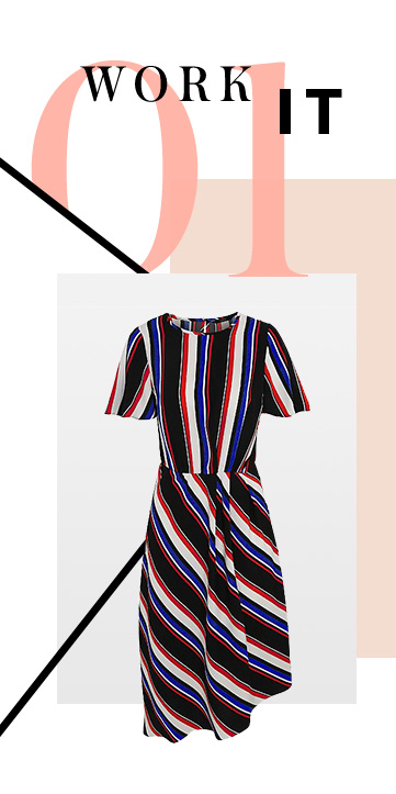 Work energetic stripes into your wardrobe