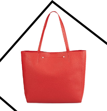 Channel a red tote bag