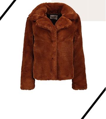 Shop faux fur jacket