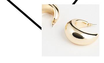 Shop gold-effect earrings