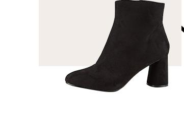 Shop black boot heels