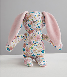 Shop pink floral bunny toy