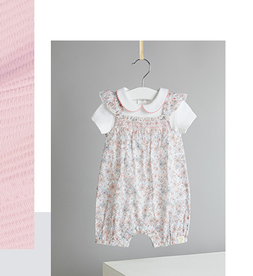 This romper is designed with a beautiful floral pattern