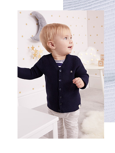 Smarten up their look with a soft and cosy cardi