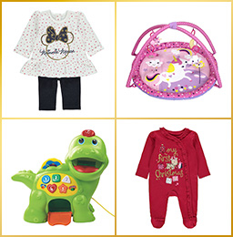 Treat them to our fun range of clothes and toys