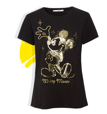 Our collection of retro-inspired Mickey anniversary clothing is great even for big kids