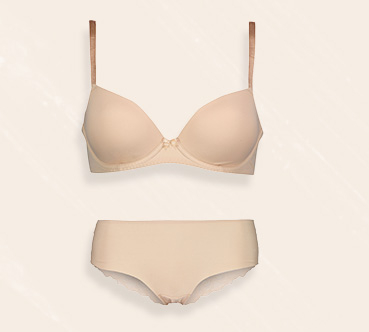 The microfibre bra is underwired with soft padded cups for maximum comfort