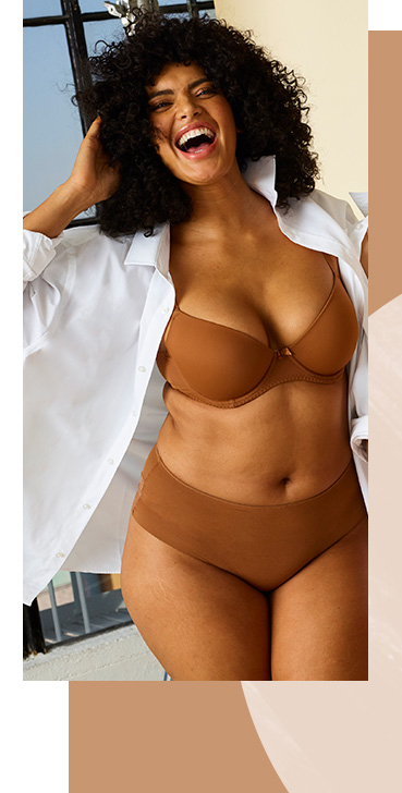 Our nude bras come in sizes ranging from 32A to 42F