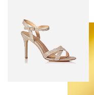 Match your dress with shimmering heels for a real show-stopping look