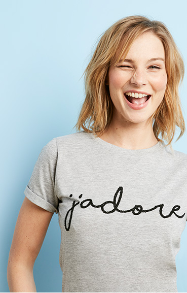Make a statement with our selection of slogan t-shirts