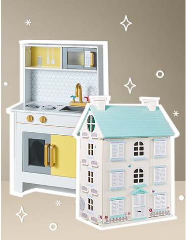 There's plenty of imaginative play to be had with our light-up dollhouse