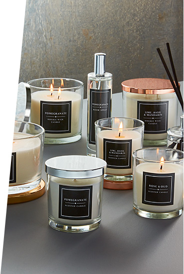 Create a soft and soothing glow with our range of tealights and holders