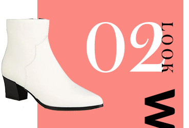 Designed with a faux leather finish and pointed toe, these white heeled cowboy boots feature a block heel and slip-on design