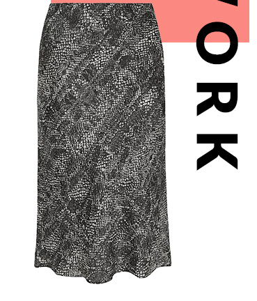 This snakeskin print midi skirt is a day-to-night saviour that's sure to turn heads