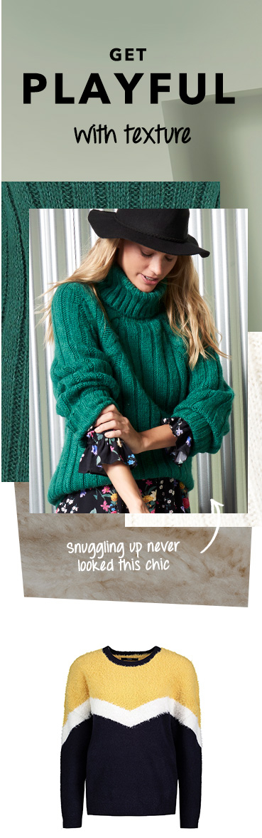 Get cosy this season with our gorgeous range of high-neck jumpers