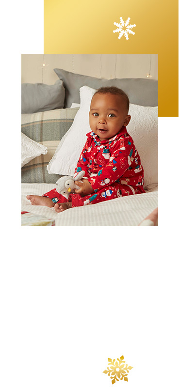 Your little one will look more adorable than ever in snuggly Christmas PJs