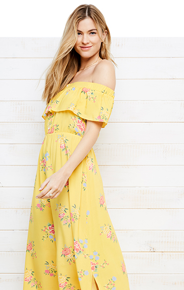 Brighten up your look with a yellow sundress