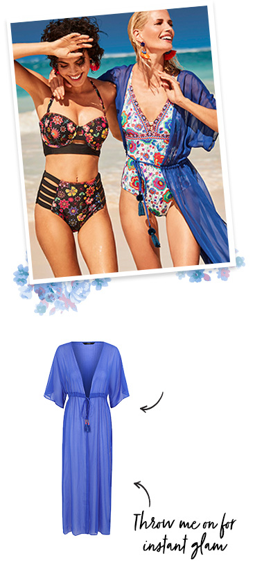 Make waves with our selection of floral swimwear