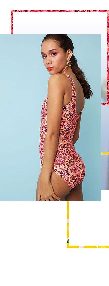 Shop paisley print swimsuit